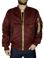 Outdoor Clothing  - Alpha Industries Burgundy/Blue MA1 VF Reversible Jacket