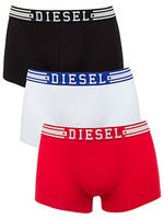 Boxershorts  - Diesel White/Black/Red Shawnthree 3 Pack Trunks