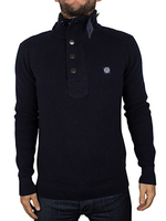 Tops  - Duck and Cover Deep Navy Yarm Knit