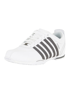 K-Swiss White/Pewter Arvee 1.5 Trainers