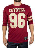 Majestic Coyotes Red Fortier Heavyweight T-Shirt