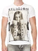 Religion White Stand & Fight Crew Neck T-Shirt
