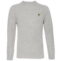 Clothing  - Lyle and Scott Lyle & Scott Crew Neck Cable Knit Grey