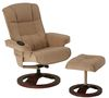 Beds|3 Seater|Storage Boxes Relaxateeze Trieste Fabric Swivel Recliner Chair + Footstool