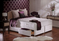 Divan Beds|Storage Boxes  - Sealy Posturepedic ortho Collection  Millionaire Ortho 2ft6 Small Single Divan Bed