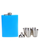 8 ounce Great Blue Metal Non-personalized Flask for Wedding