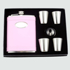 8 ounce Wonderful Pink Metal Personalized Flask for Wedding