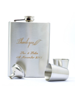 Bridal Wear & Accessories|Wedding  - 8 OZ Thank You Personalized Stainless Steel Wedding Flask Gift Set
