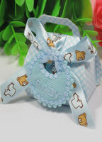 Bridal Wear & Accessories|Wedding  - Baby Bear Ribbon and Tag Set of 12 Favor Holders