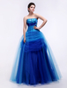 Blue Ball Gown Sweetheart Neck Quinceanera Dress