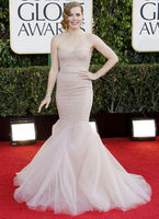 Skirts & Dresses|Special Occasions|Costumes  - Champagne Mermaid Lace Amy Adams Golden Globe Dress