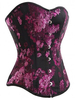Maternity Wear & Special Sizes|Sexy Clothing for Her Front Clasp Jacquard Plastic Boning Womens Bustier