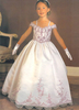 Skirts & Dresses|Special Occasions Gorgeous White Soft Yarn Floor Length Girl's Pageant Dress
