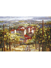 Handmade Town Scenery Canvas Oil Painting