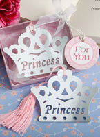 "Bridal Wear & Accessories|Bookmarks|Wedding  - ""Princess"" Crown Bookmark-More Colors"