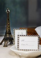 "Bridal Wear & Accessories|Wedding  - ""Silver Pearls"" Mini Photo/Place Card Frame"