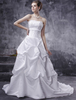 Bridal Wear & Accessories|Dresses & Skirts White Wedding Dresses Ball Gown Strapless Bridal Dress Satin Ruched Lace Beading Sash Court Train Wedding Gown