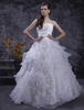 Bridal Wear & Accessories|Dresses & Skirts White Wedding Dresses Strapless Organza Bridal Gown Ruffles Tiered Lace Embroidered Sequin Floor Length Wedding Gown