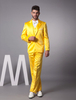 Suits & Formal Wear|Bridal Wear & Accessories Yellow Single Breasted Button Lapel Worsted Groom Wedding Tuxedo