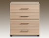 Archers Assembled Durham Oak 4 Drawer Chest Of Drawers