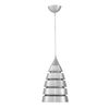 1 LIGHT STEEL MAGNOLIA SMALL BULLET PENDANT,  3250ST