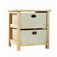 Storage Boxes  - 2 Drawer Storage Unit, with Fabric Drawers SU102