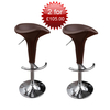 2 Marino Revolving Bar Stools in brown for ?90.00