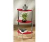 3 Tier Half Moon Glass display stand/Unit - Red