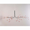 8 Light Red Clear Ceiling Lamp Crystal