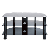 8 Series Glass TV Stand with Black Legs TV880BB