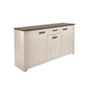 Adrina Wooden Sideboard In White And Prata Oak With 3 Doors
