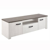Adrina Wooden TV Stand In Prata Oak And Anderson White Pine