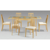 Alaska Glass Extending Dining Table Only