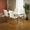 Alfonso Dining Table Set High Gloss With 4 Dining Chairs