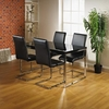 Alfonso High Gloss Black Dining Table And 4 Chairs