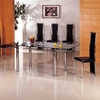 Alicia Glass Extending Dining Table In Clear With 6 G601 Chairs
