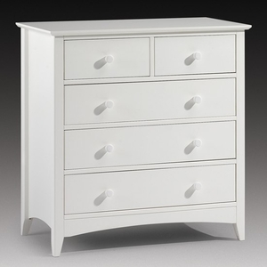 Chests of drawers  - Amani Chest of Drawers In Stone White With 5 Drawers