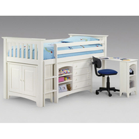 Beds  - Amani Sleep Station Finished In Stone White Lacquer