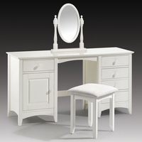 Bedside Tables  - Amani Twin Pedestal Dressing Table In Stone White