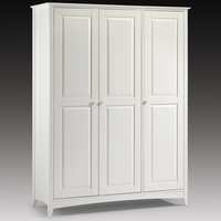 Wardrobes  - Amani Wardrobe In Stone White With 3 Doors