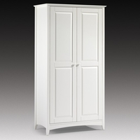 Wardrobes  - Amani Wardrobe In White With 2 Doors