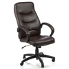 Atlas Brown Leather, Brown Bonded Leather Office Chair
