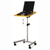 Avery Laptop Height Adjustable Table In Beech With Castors