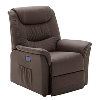 Beacon Recliner Chair In Brown Faux Leather