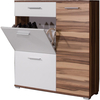 Carola Shoe Cabinet In Baltimore Walnut And White