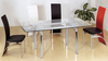 D62 Extendable Glass Dining Table Only