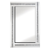 Mirrors  - Daisy Wall Mirror In White With Acrylic Crystals Décor