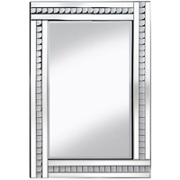 Mirrors  - Daisy Wall Mirror Large In Silver With Acrylic Crystals
