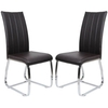Elston Dining Chair In Brown Pair of Two Just For £125.00