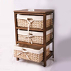 Farmhouse Woven Drawer Storage With 3 Drawer
